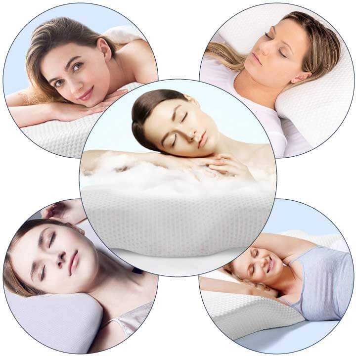 Premium-memory-foam-neck-and-head-support-pillow