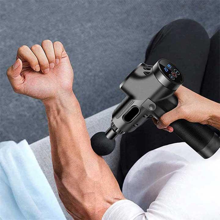 Deep tissue massager gun