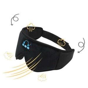 Bluetooth Sleeping Eye Mask Black breathable