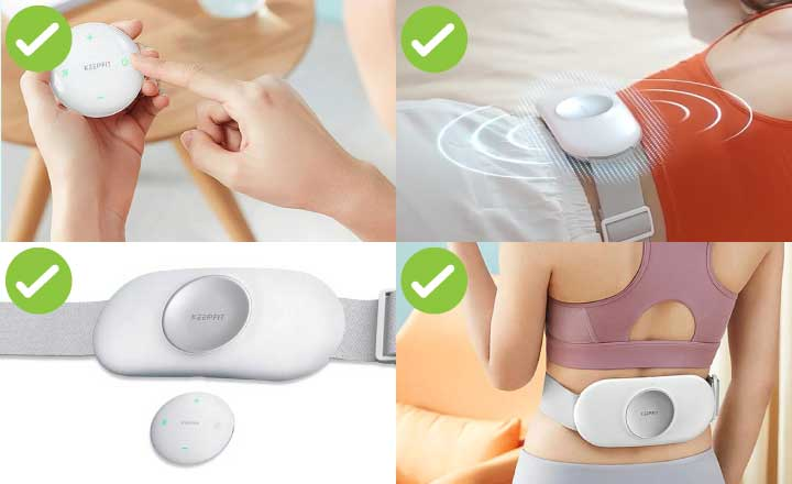 lower back heating pad and massager
