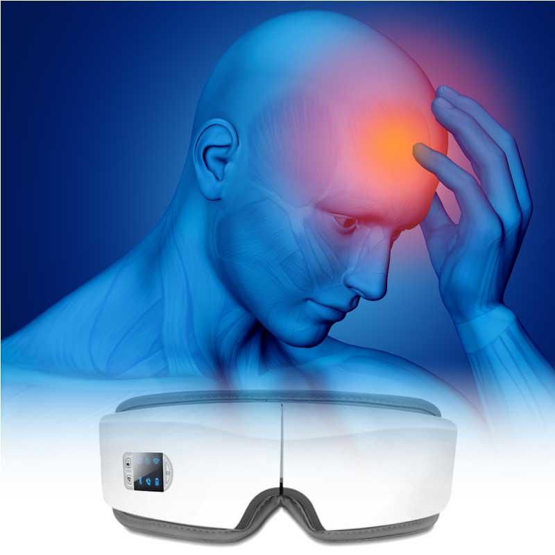 Eye massager can help to relieve headache