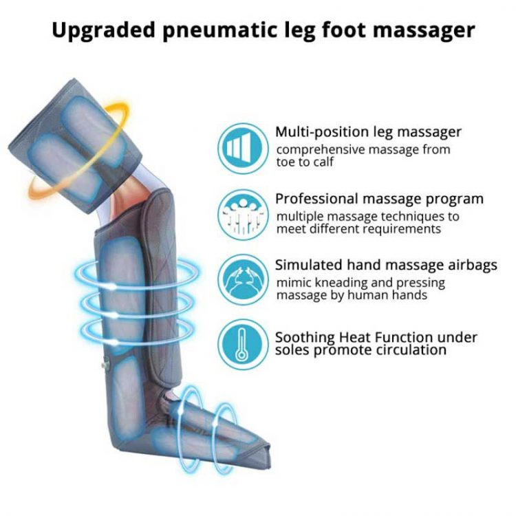 Product Image Leg Massager With Heat and Compression 6