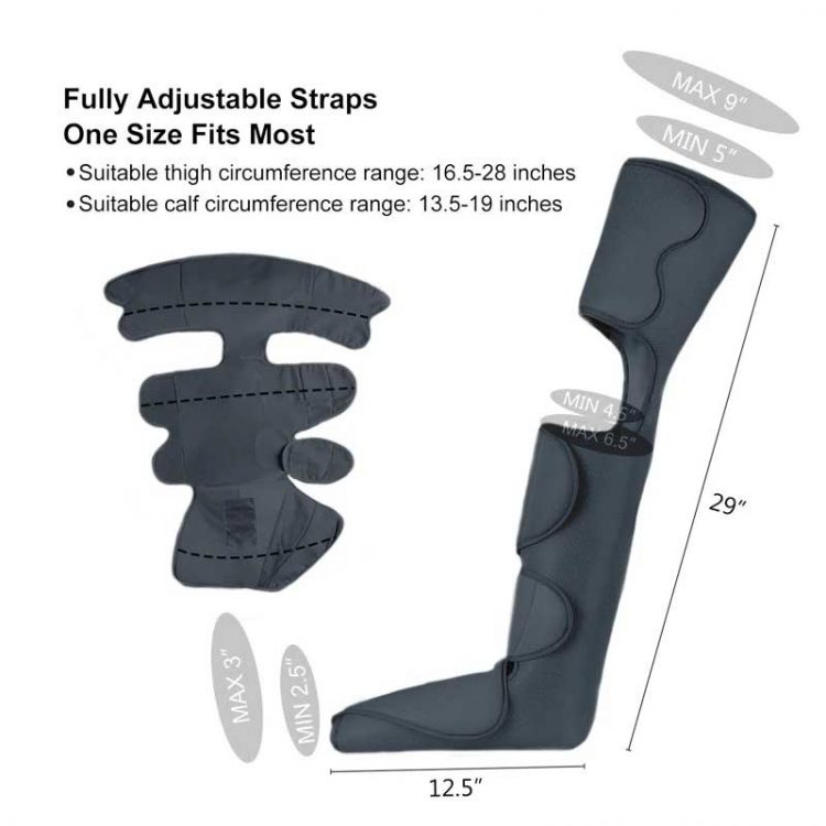 Product Image Leg Massager With Heat and Compression 7